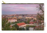 Prague Skyline At Sunset Carry-all Pouch