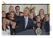 President Obama Honors Us Womens Soccer Team At White House #2 Carry-all Pouch