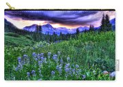 Purple Skies And Wildflowers Carry-all Pouch