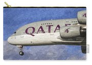 Qatar Airlines Airbus A380 Art Carry-all Pouch