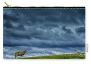 Rain Storm Ewe And Lamb Carry-all Pouch