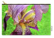 Raindrops On Purple And Yellow Iris Carry-all Pouch