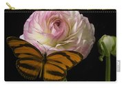 Ranunculus And Butterfly Carry-all Pouch