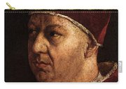 Raphael Pope Leo X With Cardinals Giulio De  Medici And Luigi De  Rossi  Carry-all Pouch