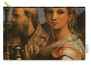Raphael St Cecilia With Sts Paul John Evangelists Augustine And Mary Magdalene  Carry-all Pouch