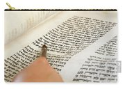 Reading The Torah Scrolls Carry-all Pouch