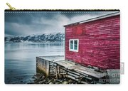 Red Boathouse In Norris Point, Newfoundland Carry-all Pouch