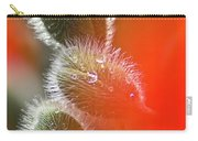 Red Corn Poppy Bud And Red Dots Carry-all Pouch