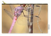 Red Dragonfly Portrait Carry-all Pouch