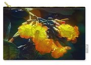 Red Flower On Dark Sky Carry-all Pouch