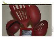 Red Kitchen Utencils Carry-all Pouch