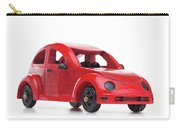 Red Retro Wooden Toy Car Isolated On White Background Carry-all Pouch