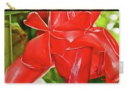 Red Tropical Flower In Huntington Botanical Gardens In San Marino-california Carry-all Pouch