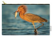 Reddish Egret With Fish Carry-all Pouch