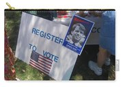 Register To Vote Bobby Kennedy Poster Sylver Short Hand Peart Park Casa Grande Arizona 2004 Carry-all Pouch