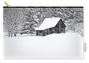 Remote Cabin In Winter Carry-all Pouch