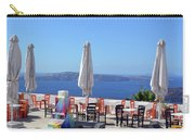 Restaurant By The Aegean Sea  In Santorini, Greece  Carry-all Pouch