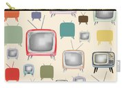 retro TV pattern  Carry-all Pouch