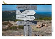 Ridge Trail Signpost Acadia National Park Carry-all Pouch
