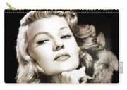 Rita Hayworth By Mary Bassett Carry-all Pouch