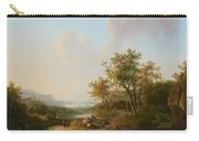 River Landscape With Views Of A Castle And Town Carry-all Pouch
