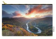 River Meander At Sunrise Carry-all Pouch