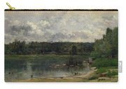 River Scene With Ducks Carry-all Pouch