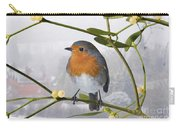 Robin On Mistletoe Carry-all Pouch