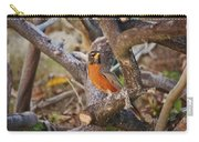 Robin On Cut Down Tree Branch Carry-all Pouch