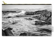 Rocky Asilomar Beach In Monterey Bay At Sunset. Carry-all Pouch