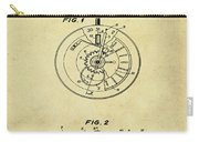 Rolex Watch Patent 1999 In Sepia Carry-all Pouch