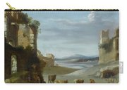 Roman Landscape With Ruins Carry-all Pouch