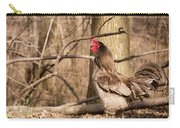 Rooster In The Woods Carry-all Pouch