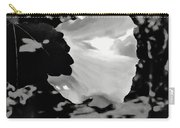 Rose Of Sharon In Black And White Carry-all Pouch