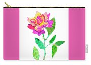 Rose, Watercolor Painting Carry-all Pouch