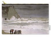 Rough Sea At Etretat Carry-all Pouch