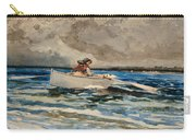 Rowing At Prouts Neck Carry-all Pouch by Winslow Homer