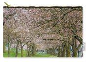 Rows Of Cherry Blossom Trees In Spring Carry-all Pouch
