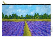 Rows Of Lavender In Provence Carry-all Pouch