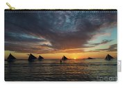 Sailing Boats At Sunset Boracay Tropical Island Philippines Carry-all Pouch