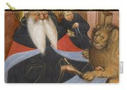 Saint Jerome Extracting A Thorn From A Lion's Paw Carry-all Pouch