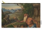 Saint Jerome In A Landscape Carry-all Pouch