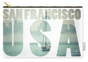 San Francisco Downtown Cityscape, California, Usa  Carry-all Pouch