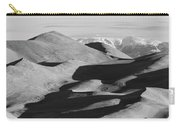 Monochrome Sand Dunes And Rocky Mountains Panorama Carry-all Pouch