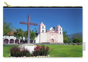 Santa Barbara Mission And Cross Carry-all Pouch