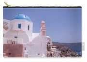 Santorini Oia Blue Domed Church Carry-all Pouch