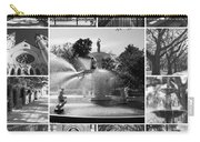 Savannah Collage Black And White Carry-all Pouch