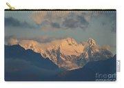 Scenic View Of The Dolomites Mountains With A Cloudy Sky  Carry-all Pouch