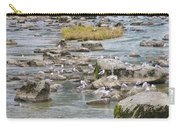 Seagulls On The Rocks Carry-all Pouch