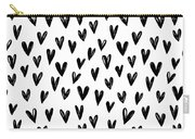 Seamless Pattern With Hand Drawn Hearts.  Carry-all Pouch